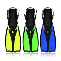 Diving Fins for adults Professional Snorkeling Swimming fins long Flexible flippers Submersible shoe Professional Diver 2 Color