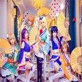 Любовь Живая Аниме Косплей Хэллоуин Костюмы Для Женщин Всех Членов Сонода Nishikino Тодзио Рин Коидзуми Минами Нико Эли Кимоно KM001