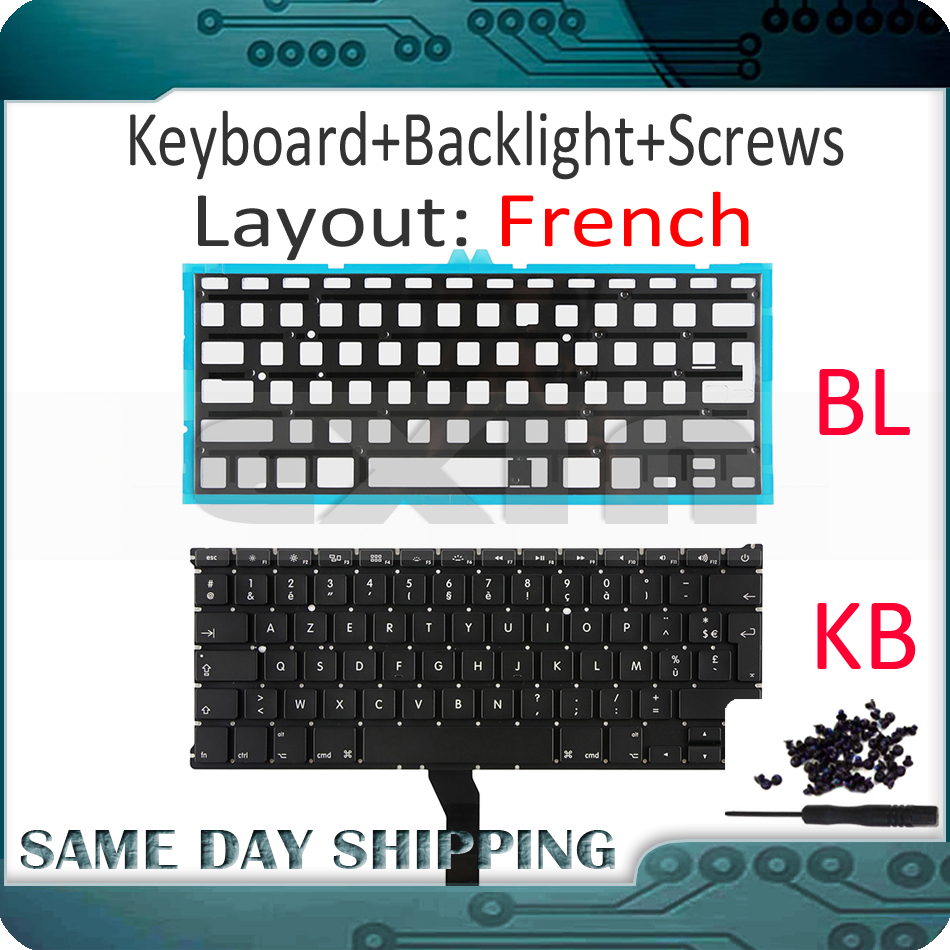New Laptop A1369 French Keyboard For Apple Macbook Air 13