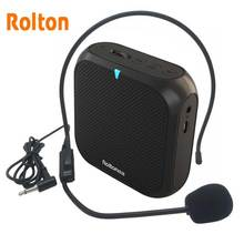 Rolton K400 Portable Voice Amplifier Megaphone Booster with Wired Microphone Loudspeaker  Speaker  FM Radio MP3 Teacher Training