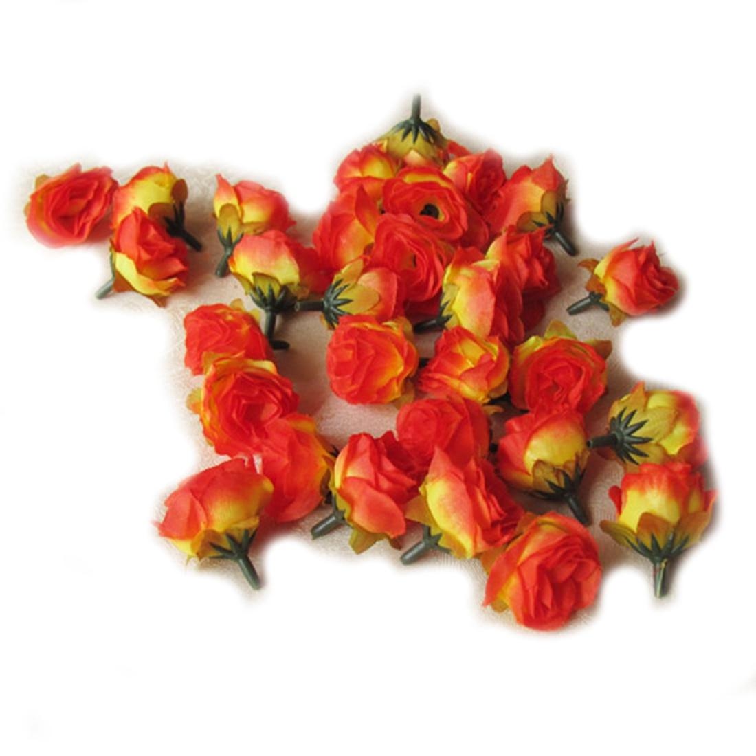 UESH-100pcs Multi Color Pequeño Té Rosa Bricolaje Rosa Flor de Seda - Para fiestas y celebraciones - foto 1