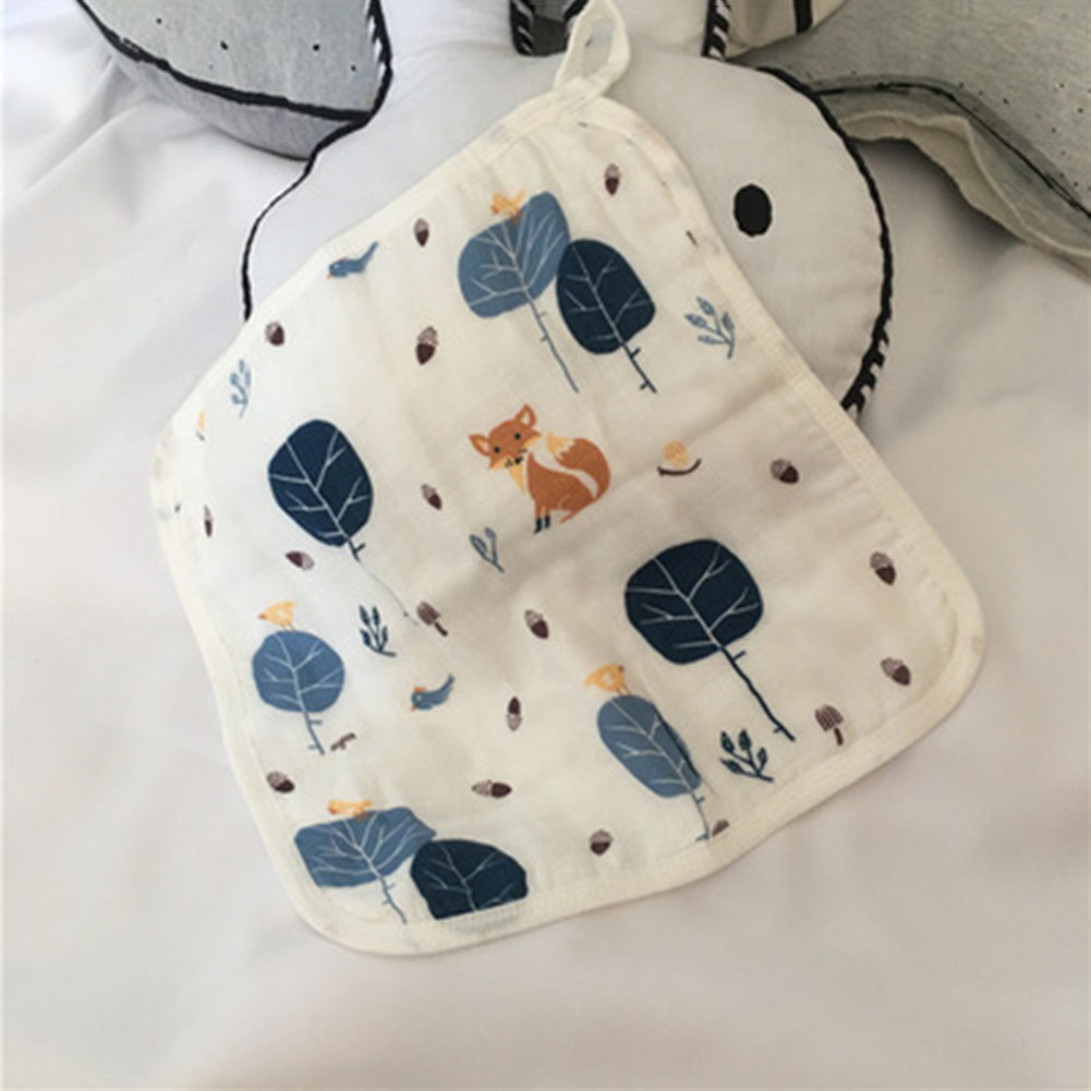 30*30cm Cotton Gauze Newborn Baby Infant Cartoon Face Hand Bathing Towel Bibs Feeding Square Towels Handkerchief
