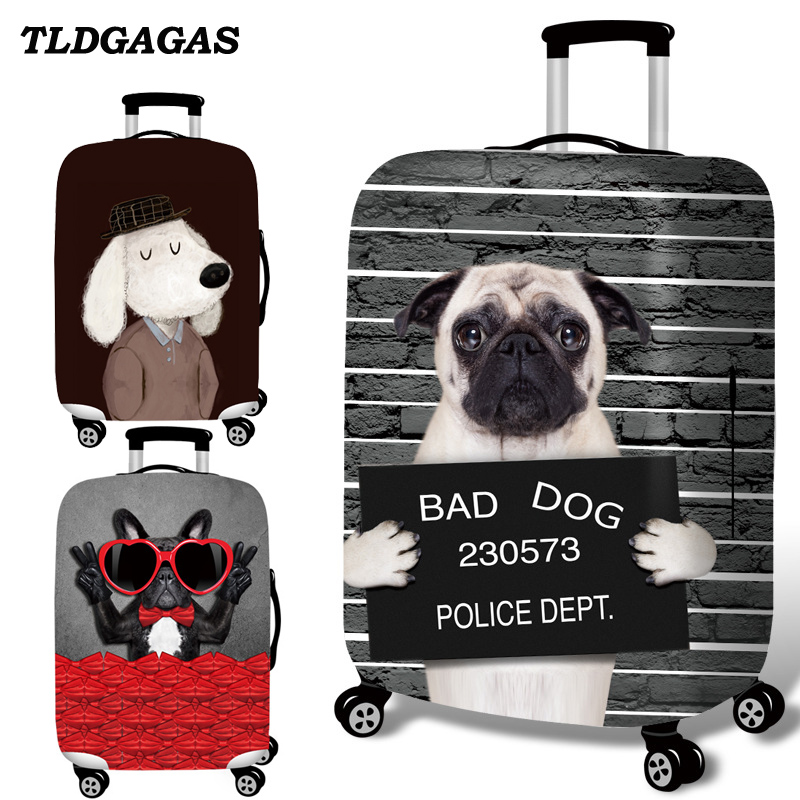 TLDGAGAS Luggage Cover Travel Suitcase Animal Prints Protector Suit 18-32 Size Cute Cat Pattern Trolley Case Travel Accessories