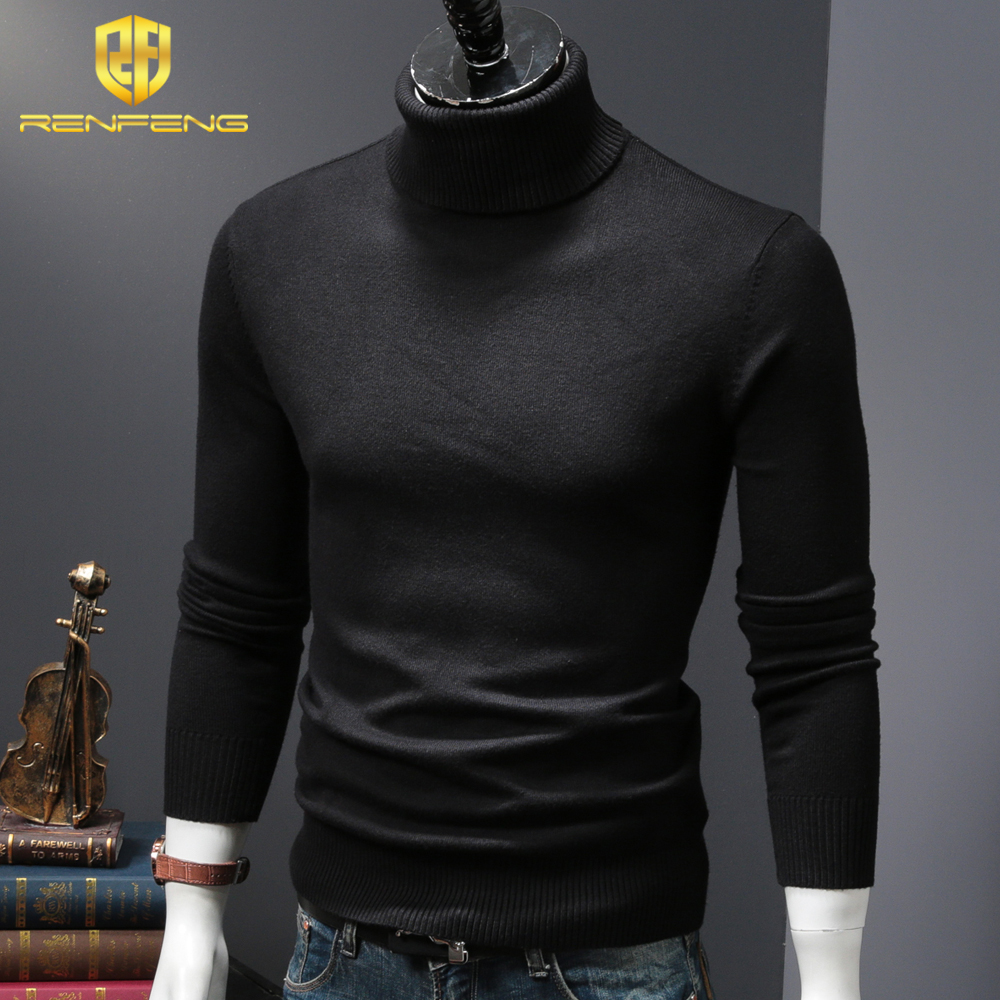 mens wool sweaters 2018 turtleneck men winter shirt christmas sweaters dress man clothes knitwear pullover jumper for male (4)