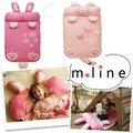 Pink Cat & Rabbit Baby Infant Cartoon Kick Quilt Removable Sleeping Bag Pillow Blanket Swaddle