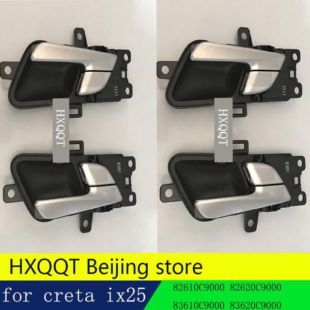 4pcs Door Handle Original For Hyundai Creta Ix25 2017 2016 Inner Door Handle  / Left Side