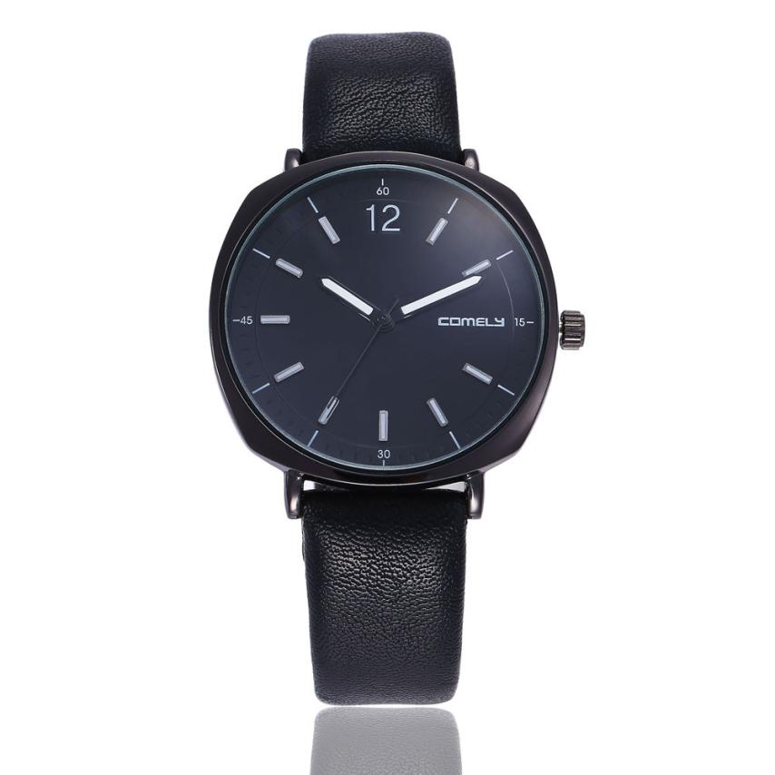 2018 Luxury Watches For Women Men Fashion Black Leather Band Analog Quartz Round Wrist Watch Lady Dress Watches reloj mujer A2 mooncase чехол