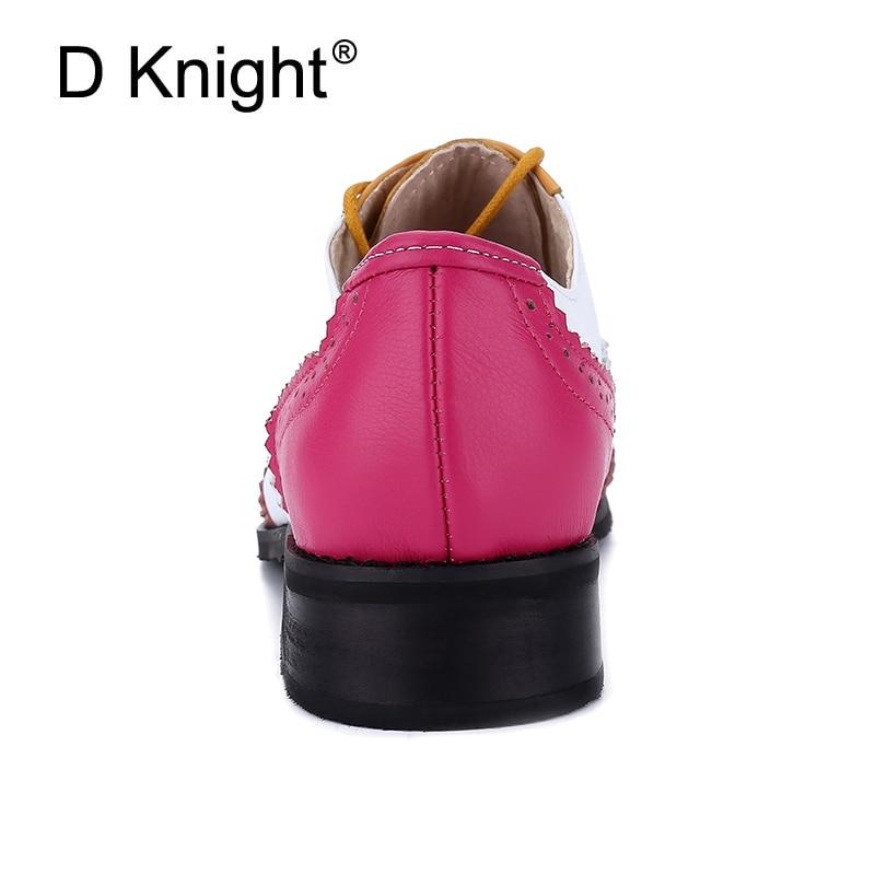 جديد المرأة ناتروال جلد شقة أكسفورد أحذية حذاء امرأة خمر جولة تو اليدوية مختلط الألوان أكسفورد أحذية للنساء 2018-في أحذية نسائية مسطحة من أحذية على  مجموعة 3