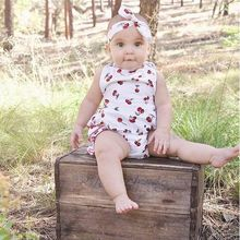 new baby Flower Romper printed floral ruffled backless Romper girl rompers infant sleeveless girls clothes baby JumpSuit jumper