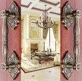 370 MM Liga de Zinco de Bronze antigo Europeia Villa Archaize Porta De Madeira Maçaneta Da Porta Puxar Acessórios de Hardware Porta de Aço De Vidro Do Hotel