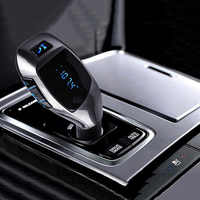2016 New Bluetooth Car Kit Aux Stereo Handsfree Phone Speaker TF Card MP3 Player FM Transmitter