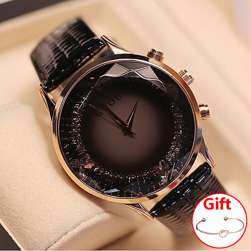 GUOU Ladies Watch Fashion Relogio Feminino Bracelet Women's Watches For Women Watches Luxury Diamond Clock reloj mujer saat guou ladies watch fashion color stone glitter women watches luxury genuine leather diamond watch reloj mujer relogio feminino