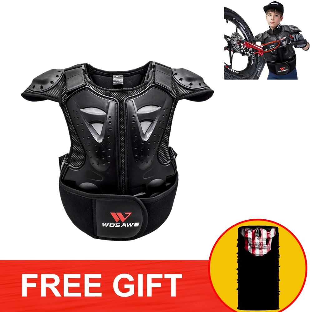 Children Body Chest Spine Protector Guard Vest Jacket Cycling Dirt Bike Motorcycle Ski Skate Snowboard Armor