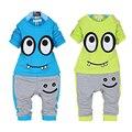 Otoño de algodón ropa de los muchachos niños de dibujos animados muchachos de la ropa de manga larga t-shirt + pants Pijamas 2 unids set Niños ropa trajes del deporte