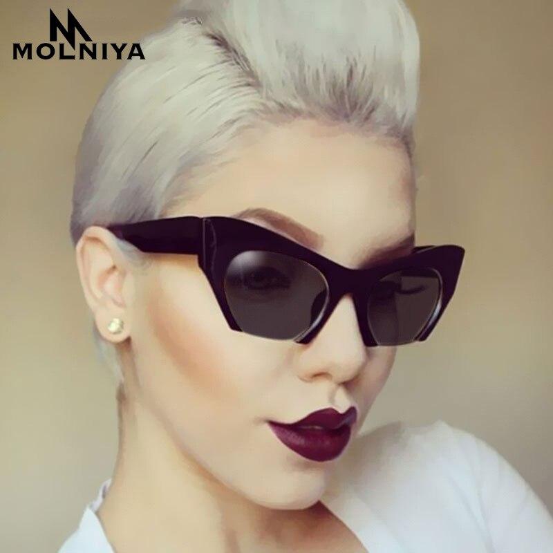 2454115eff MOLNIYA, Marco medio de montura de ojo de gato gafas de sol de las mujeres  2019 de moda claro, diseñador de marca, gafas de sol para mujeres, gafas de  sol