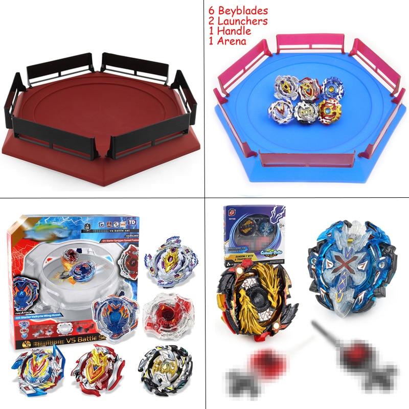 Arena Kai Watch Land estadio Bey Blade Toupie Bayblade Spinning Top Metal 4D fusión juguetes para niños con lanzador manija # E
