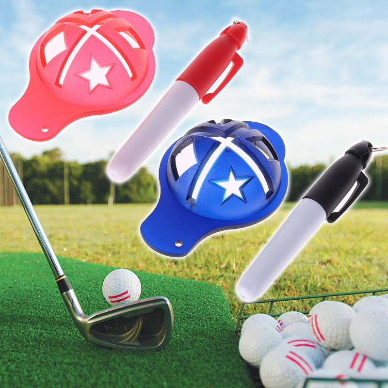 US $0 91 25% OFF|OOTDTY 1 Set Golf Ball Liner Marker Drawing Pen Template  Alignment Sign Marking Pick Up Tools-in Golf Training Aids from Sports &