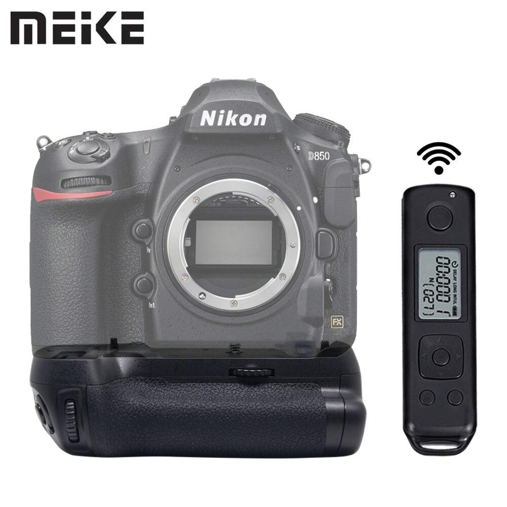 MEIKE MK-D850 Pro Tir Vertical Power Pack Batterie Grip avec 2.4g Sans Fil Télécommande pour Nikon D850 Caméra