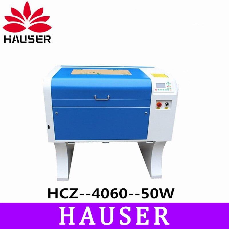 Trasporto Libero HCZ 50w co2 laser CNC 4060 incisione laser macchina di taglio macchina per marcatura laser mini laser engraver di cnc router fai da te
