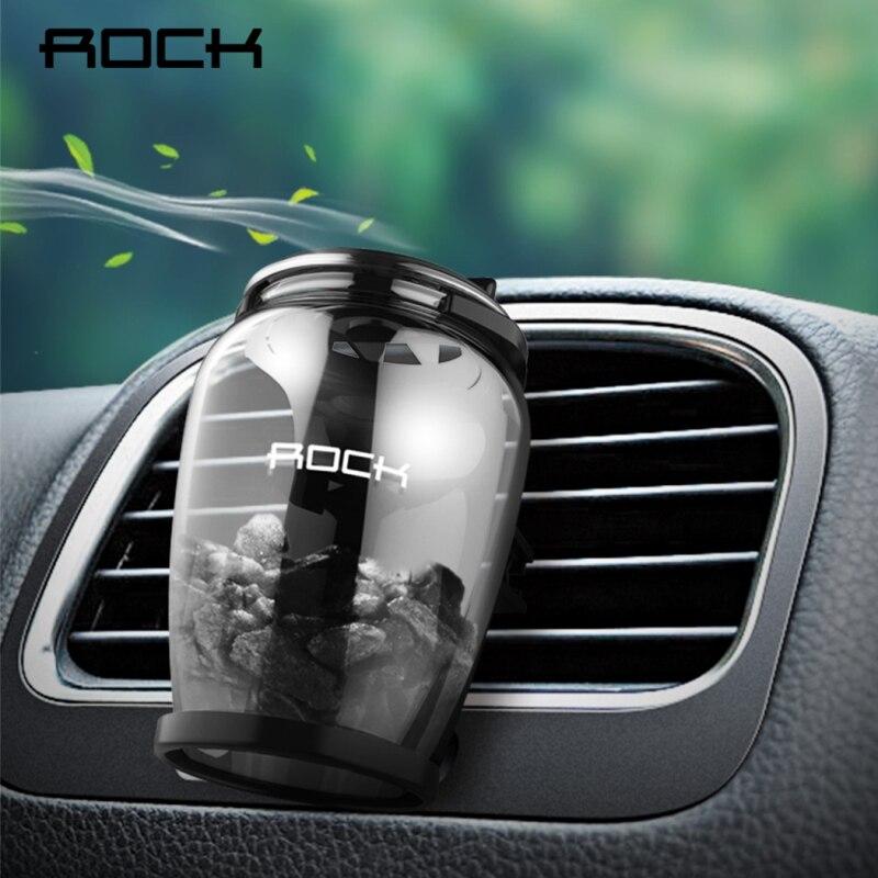 Рок ароматерапия Автомобильный держатель Универсальный Air Vent цеолит аромат освежителя воздуха Роскошные природный цеолит аромат духов авт…