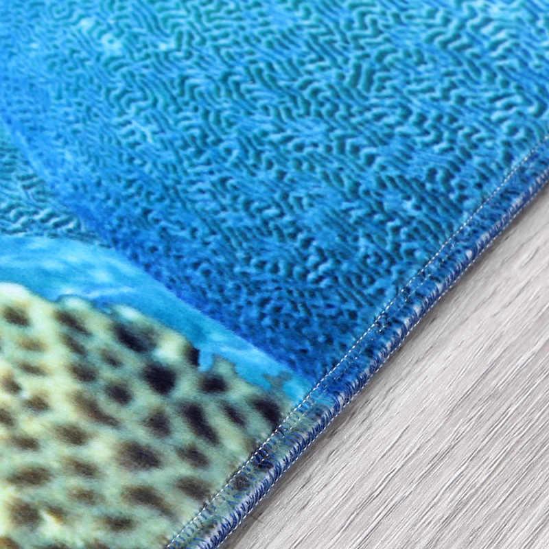ثلاثية الأبعاد الكرتون المحيط العالم القرش منطقة البساط سجادة ضد الإنزلاق السجاد غرفة المعيشة سجادة غرفة النوم غرفة الأطفال الديكور خرافة السجاد