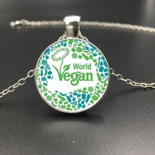 World Vegan Pendant Necklace