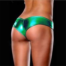 Metallic Color Lingerie G-String Thong Underwear