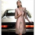 Брюки Костюм 2017 Новый Кружева мать Невесты Платье Половину Рукава Аппликация Женщины Формальное Вечернее Платье