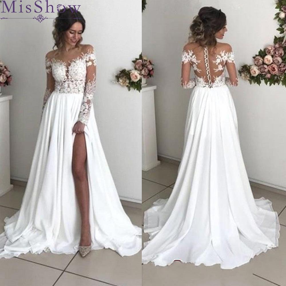 Chiffon Wedding Dresses Beach Robe Mariage