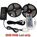 10M 2*5m SMD 5050 LED Strip Light Waterproof DC12V RGB Diode Tape +44Key Remote +6A Transformer Power Adapter for Decoration
