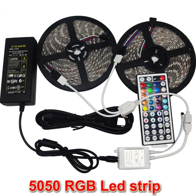 10M 2 5m SMD 5050 LED Strip font b Light b font Waterproof DC12V RGB Diode