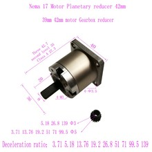 цена на NEMA 17 gear reducer Planetary gear box different gear ratio fit for NEMA 17 stepper motor to increase motor output shaft torque