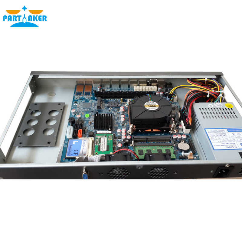بارتاكر R9 B75 G2030 1U راوتر 6 إنتل 82583 فولت جيجابت إيثرنت دعم خادم البرمجيات 4G RAM 64G SSD