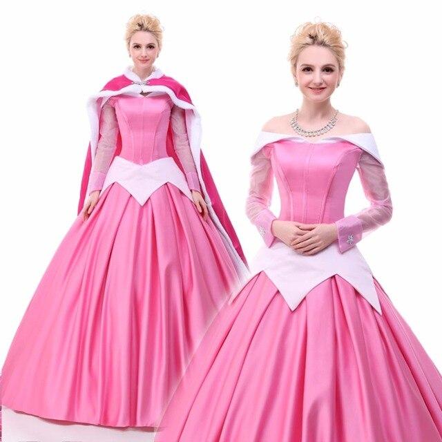 Princess Aurora Costume Sleeping Beauty Deluxe Princess Dress Cloak ...