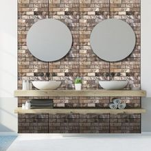 цена на Brand New Style 3D Wall Sticker Tile Brick Self-adhesive Mosaic Kitchen Bathroom Wall Decor Home Decor