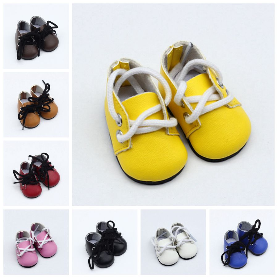 5*2.8CM 8 Colors Fashion Mini Pu Leather Toy Shoes For EXO Dolls Fit For 14.5 Inch Doll As For BJD Ragdoll Accessories