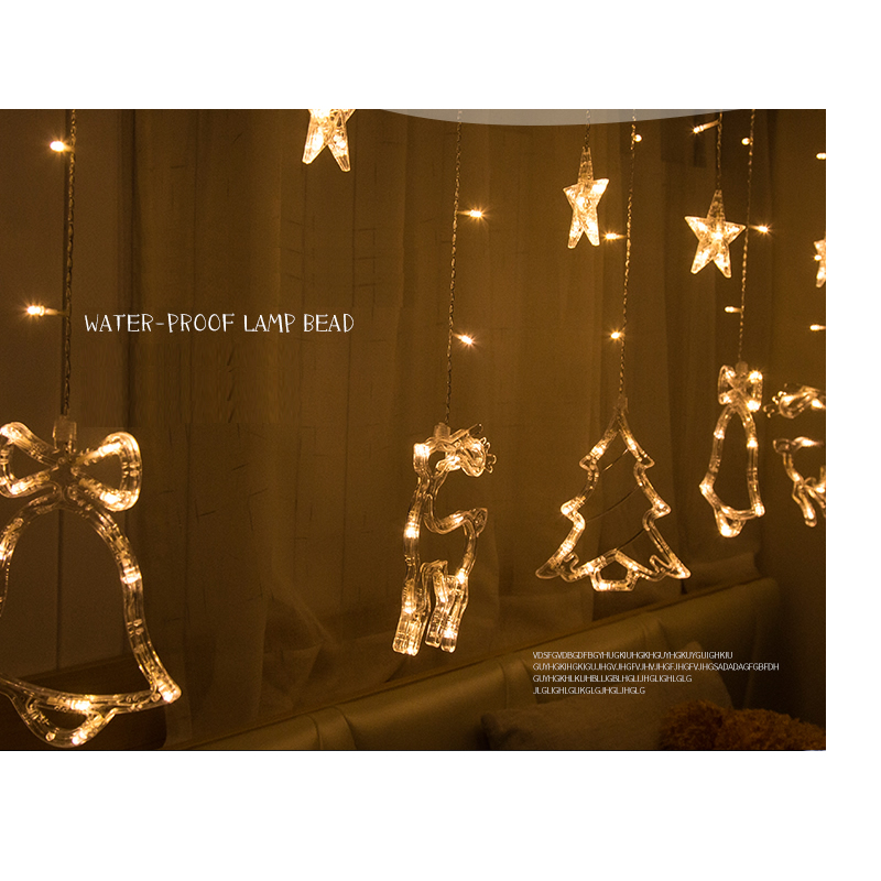 WoodPow 3M 12LED Holiday Party Ljusfönster Juldekoration Light - Festlig belysning - Foto 3