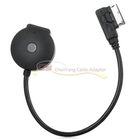 2pcs/Media In AMI MDI to Bluetooth Audio Aux & USB Female Adapter Cable for Car VW AUDI A4 A6 Q5 Q7 Late Than 2009