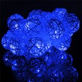 2.2M 0.06W 20 LED String Light Battery Operated Colorful Rattan Ball Fairy Lamp Christmas Wedding Party Decoration DC4.5V