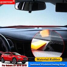 QCBXYYXH автомобиль-Стайлинг резина авто анти-шум звукоизоляция Пылезащитная приборная панель лобовое стекло уплотнительные полосы для Subaru XV 2018 2019