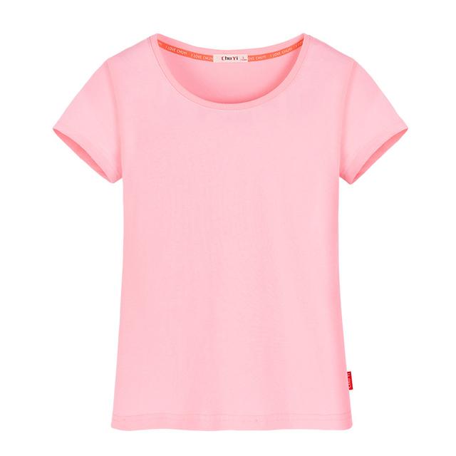 100% Mujeres Camiseta de Verano de Algodón Transpirable Color Sólido Simple Loose Camisetas Mujer Camiseta Tops Camiseta Más El Tamaño 6XL JA2385
