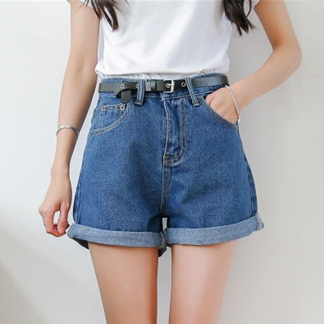 2232f7f94 Sedlkova Hot Shorts Jeans/2017 Mulher Verão Ondulação Calça Jeans Boyfriend  Jeans Calças/Meninas