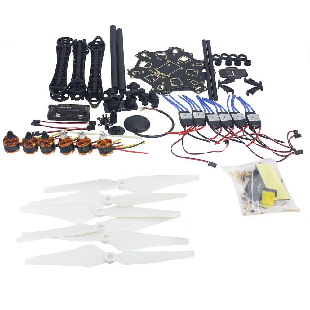 Комплект с 6 осевым дроном на радиоуправлении рамка HMF S550 6 м gps Полетный контроллер APM 2,8 нет передатчика нет Батарея F08618 R