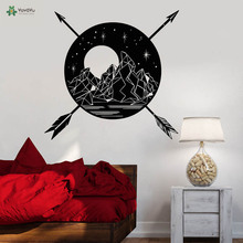 YOYOYU Vinyl Wall Decal Mountains Moon Arrows Star Landscape Teens Room Art Removable Home Decor wall Stickers for kids FD247