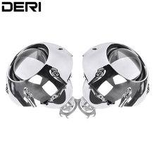 цена на Retrofit Mini 2.5 inch HID Bixenon Projector Headlight Lens Automobiles Headlamp Lenses Kit+ Silver Shrouds H1 H4 H7 Car Styling