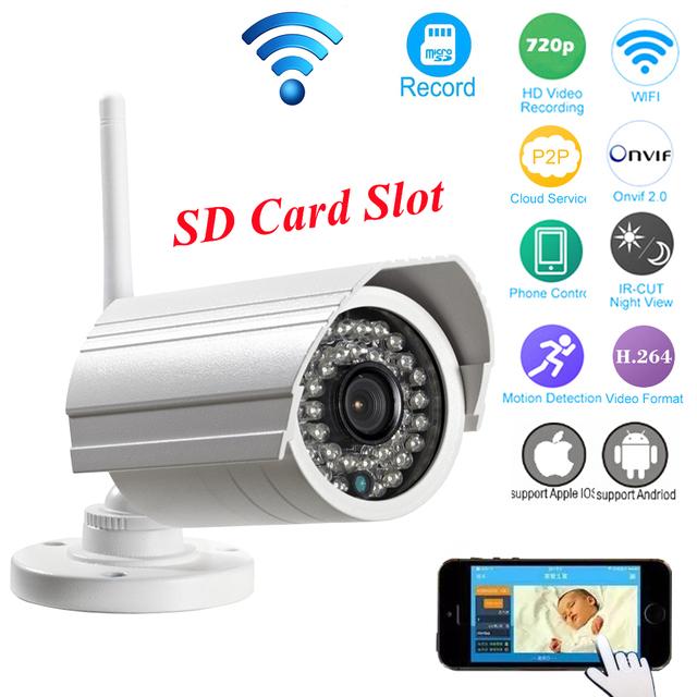 OwlCat Bala Ao Ar Livre Câmera IP WI-FI Cartão SD 1MP 720 p 960 p survelliance cctv hd sem fio ip cam ir p2p onvif iphone android