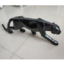 Modern Resin Panther Sculpture for Home Decor