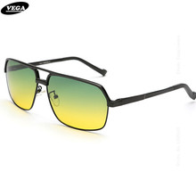 VEGA Aluminum Magnesium Alloy Frame Polarized Day Night Sunglasses Women Men HD Vision Glasses At Night Driving Glasses 8549