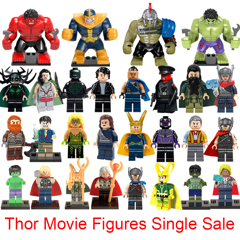 Christmas Thor 3 Movie Series Super Heroes Avengers Models Thor Hulk Loki Hela Bruce Banner Valkyria Building Blocks Brick Toys hulk vol 1 banner d o a