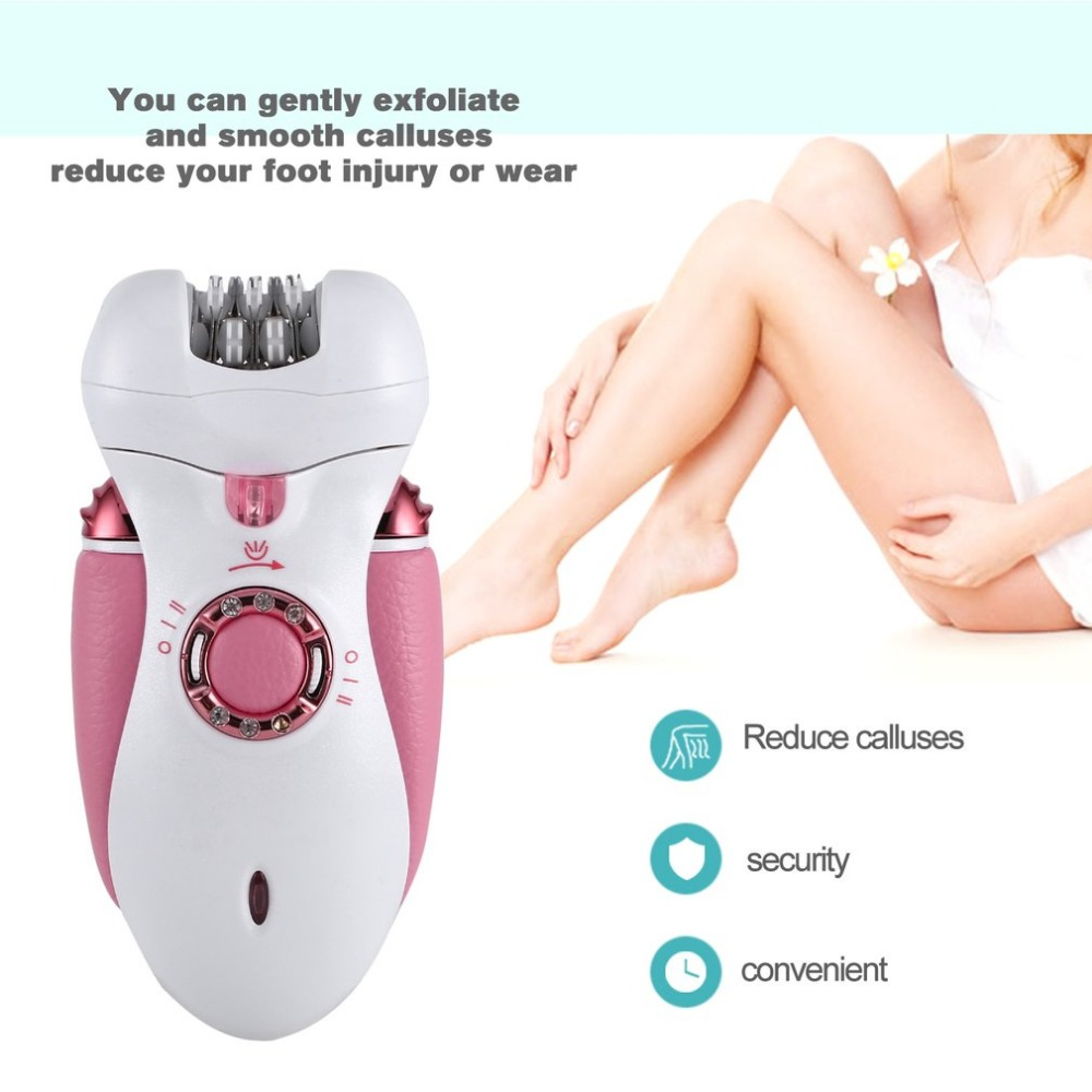 Rechargeable Electric 4-in-1 Luxurious Callus & Hair Removal System Waterproof Gentle Silk Epilator & Shaver Hot Sale ...